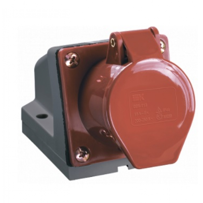 Розетка кабельная 32А 3Р+N+E IР44 на поверхность 380В 125