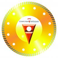 Отрезной алмазный круг Сплистоун (Turbo 230x2,6x10x22,2 мрамор 40) сухая Standart