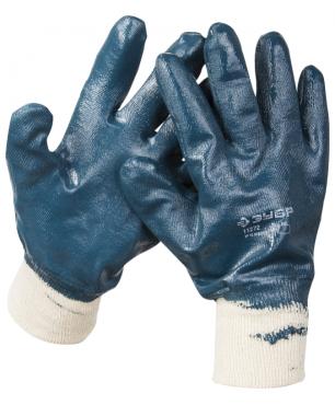Перчатки МАСТЕР рабочие с манжетой с нитриловым покрытием (р. XL 10) Зубр 11272-XL