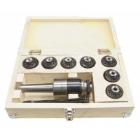 Патрон резьбонарезной Stalex МТ-3 под винт и набором цанг М12 (комплект 7шт.)