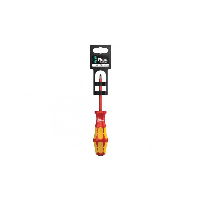 Отвертка диэлектрическая шлицевая WERA 165 i PZ/S SB VDE для винтов PlusMinus, 100021
