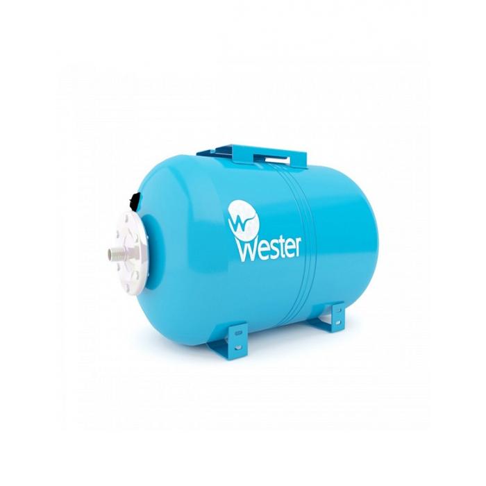 Бак мембранный для водоснабжения горизонтальный Wester Premium WAO80 c нержавеющим контрфланцем