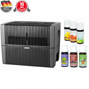 Мойка воздуха Venta LW45 (черная) + мини-набор ароматических добавок в подарок!