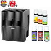 Мойка воздуха Venta LW25 (черная) + два мини-набора ароматических добавок в подарок!
