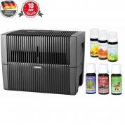 Мойка воздуха Venta LW45 (черная) + два мини-набора ароматических добавок в подарок!